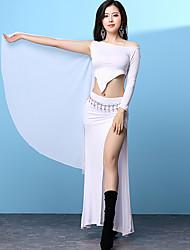 baratos -Devemos roupas de dança do ventre Formação feminina modal split manga comprida caiu saias tops