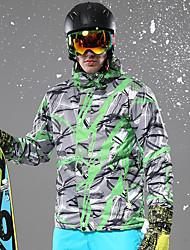 cheap -Men's Ski Jacket Warm Waterproof Windproof Wearable Breathability Ski / Snowboard Fiber