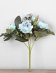 1 ブランチ プラスチック ボタン テーブルトップフラワー 人工花