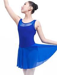 baratos -Balé Vestidos Mulheres Espetáculo Elastano Combinação Sem Manga Natural Vestido