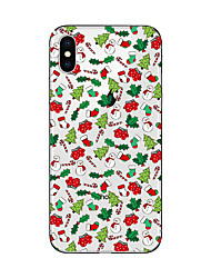abordables -Funda Para Apple iPhone X iPhone 8 Plus iPhone 7 iPhone 7 Plus iPhone 6 Traslúcido Diseños Cubierta Trasera Navidad Suave TPU para iPhone