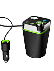 abordables -Multifonctionnel bluetooth voiture tasse usb charge bluetooth mains libres fm émetteur voiture mp3 charge bluetooth voiture tasse