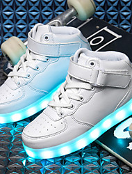 cheap -Boys' Shoes PU Fall / Winter Light Soles / Light Up Shoes Sneakers LED for Black / Blue / Pink