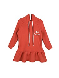 cheap -Kids Girls' Simple Casual / Daily Solid Colored Long Sleeve Dress