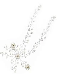 billige -Imiteret Perle / Rhinsten Pandebånd med Imiterede Perler / Krystal / Rhinsten 1pc Bryllup / Speciel Lejlighed Medaljon