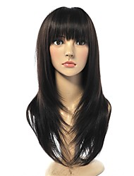 cheap -Synthetic Hair Wigs Straight Natural Hairline With Bangs Celebrity Wig Natural Wigs Long Natural Black