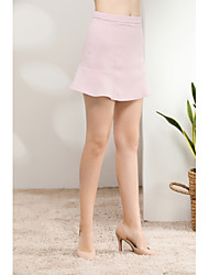 cheap -Women's Daily Holiday Short / Mini Skirts, Cute Sexy A Line Polyester Solid Spring