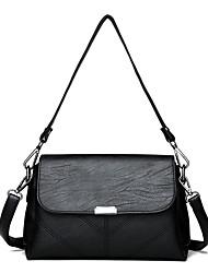 cheap -Women's Bags PU Shoulder Bag Pocket Black / Red