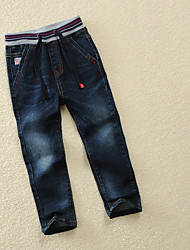 economico -Pantaloni Da ragazzo Tinta unita Primavera Nero