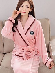 cheap -Women's Suits Pajamas, Solid Thick Polyester Fuchsia