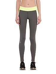 baratos -Mulheres Com Transparência Leggings de Corrida - Cinzento Esportes Meia-calça / Leggings Roupas Esportivas Secagem Rápida