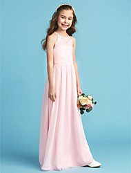 a121682a70 cheap Junior Bridesmaid Dresses-A-Line   Princess Jewel Neck Floor Length  Chiffon