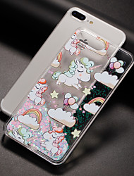 cheap -Case For Apple iPhone 7 iPhone 7 Plus iPhone 6 Flowing Liquid Pattern Back Cover Unicorn Hard PC for iPhone 7 Plus iPhone 7 iPhone 6s
