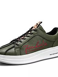 baratos -Homens sapatos Couro Ecológico Primavera Outono Solados com Luzes Tênis para Casual Branco Preto Verde Escuro