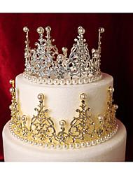 baratos -Decorações de Bolo Tema Fadas Romance Moda Estilo Romântico Princesa metal Casamento Aniversário com Perola Imitação Metálico 1 PPO