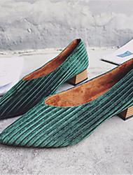 abordables -Femme Chaussures Polyuréthane Printemps Eté Sandales Talon Bas Bout rond pour Décontracté Or Noir Vert