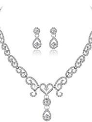 cheap -Women's Rhinestone Jewelry Set 1 Necklace / Earrings - Fashion Geometric White Jewelry Set For Wedding / Gift