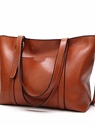cheap -Women's Bags PU Shoulder Bag Zipper for Casual Outdoor Winter Fall Black Brown Wine