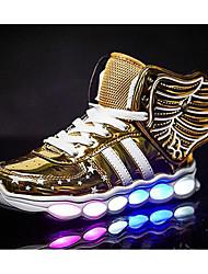baratos -Para Meninos sapatos Couro Ecológico Primavera Outono Conforto Tênis para Casual Dourado Preto Vermelho