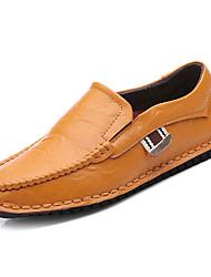pánské boty pu jarní pád pohodlí mokasíny&zásuvky pro venkovní modrou žlutou černě bílou barvu