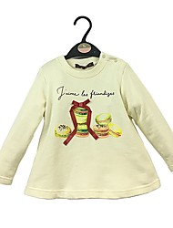 cheap -Girls' Solid Hoodie & Sweatshirt, Cotton Spring Fall Long Sleeves Simple Cute White Khaki