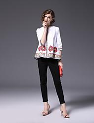 economico -Camicia Per donna Con ricami Colletto alla coreana