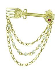 baratos -Mulheres Broches Jóias Imitação de Pérola Simples Fashion Liga Dourado Jóias Para Diário Para Noite