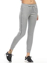 economico -Per donna Collant da corsa Asciugatura rapida Calze/Collant/Cosciali Yoga Corsa Pilates Nylon Aderente Nero Grigio M L XL