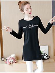 economico -T-shirt Per donna Moda città Alfabetico