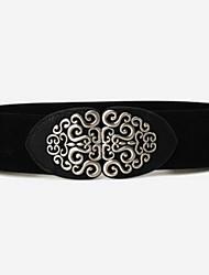 cheap -Women's Casual Leather Wide Belt