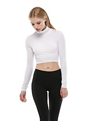 cheap -Women's Running Shirt - White Sports Sweatshirt / Top Yoga, Fitness, Gym Long Sleeve Activewear Breathability Inelastic