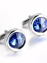 cheap -Circle White / Purple / Blue Cufflinks Zircon / Copper Dresswear / Fashion Men's Costume Jewelry For Daily / Formal