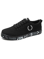 abordables -Hombre Zapatos PU Primavera Otoño Confort Zapatillas de deporte para Negro Negro y Oro Negro y blanco Blanco y Verde