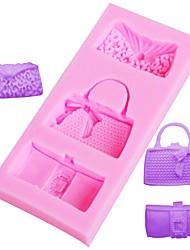 cheap -Fashion Bags Fondant Chocolate Mold Silicone Mould Fondant Cake Decoration Tools