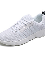 cheap -Men's Tulle Spring / Fall Comfort Athletic Shoes White / Black / Gray