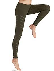 economico -Per donna Pantaloni da corsa Traspirabilità Pantalone/Sovrapantaloni Corsa Poliestere Elastene Nero Verde militare S M L
