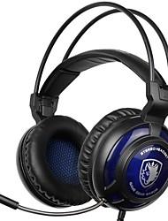 billige -SADES SA-805 Pandebånd Ledning Hovedtelefoner Dynamisk Plast Gaming øretelefon Med Mikrofon Headset