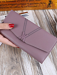 cheap -Women's Bags PU Wallet Buttons Pattern / Print for Event/Party Shopping All Seasons Purple Gray Blushing Pink Red Black