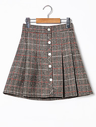 cheap -Women's Normal Daily Short / Mini Skirts, Vintage A Line POLY Winter Spring/Fall