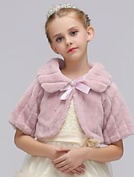 billiga -Blus Flickor Enfärgad, Konstsilke Polyester Alla årstider Långärmad Enkel Vintage Blå Vit Rodnande Rosa Beige