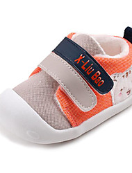 cheap -Baby Shoes PU Spring Fall First Walkers Comfort Sneakers for Casual Orange Gray Red