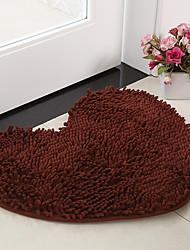 baratos -tapetes de banho casual chenille em forma de coração sólido