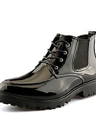 preiswerte -Herrn Schuhe PU Frühling Herbst Komfort Stiefel Booties / Stiefeletten für Draussen Schwarz Rot Grün