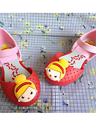 baratos -Para Meninas Sapatos PVC Primavera / Outono Conforto / Plástico Sandálias para Roxo / Rosa claro / Azul Claro