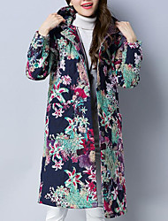 cheap -Women's Going out Vintage Long Padded - Print, Print