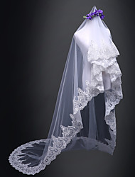 cheap -One-tier Bridal Wedding Wedding Veil Cathedral Veils 53 Lace Tulle