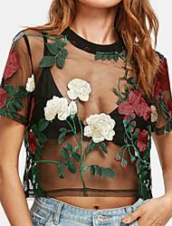 preiswerte -Damen Blumen T-shirt