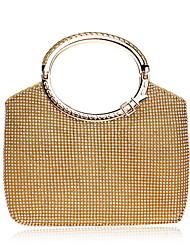 economico -Per donna Sacchetti Poliestere Tote Dettagli con cristalli Oro / Argento