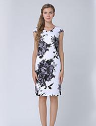 cheap -Women's Work A Line Dress Print