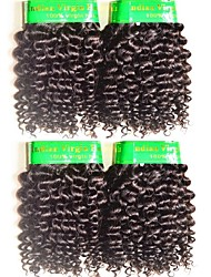 cheap -10a mongolian kinky curly virgin hair 4bundles 400g lot remy human hair extensions weaves natural black color